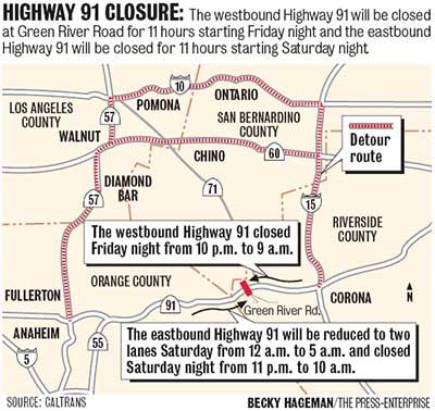 91 Freeway Map